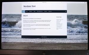 Die Startseite von Nordsee-Text auf einem stationären Computer. (Foto: Birte Vogel)