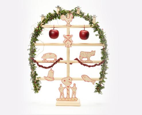 Kenkenbuum –nordfriesischer Weihnachtsbaum (Foto: Föhrer Werkstätten)