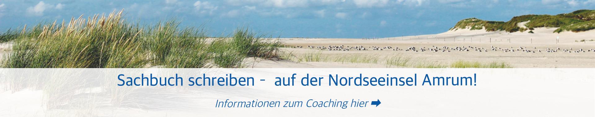 Sachbuch Schreibcoaching auf Amrum (Foto & Grafik: Birte Vogel)